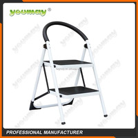 Fashion Spray paint design folding wide step steel ladder