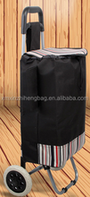2015 professional trolley shopping bag with chair made in China