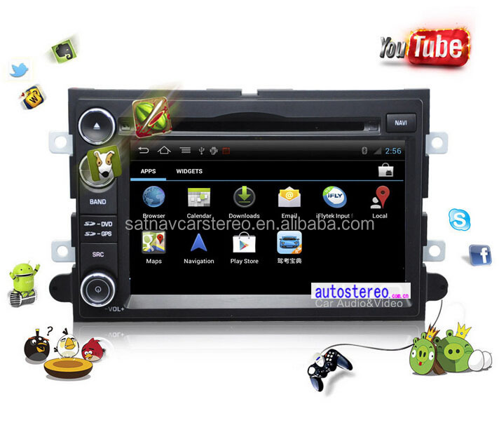 Car Dash Android Car GPS Navigation Multimedia System for Ford F-150 Car DVD Player 3G Wifi iPod TV Bl