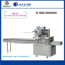 small food package fried dough twist flow packing machine ALD-250B for sale