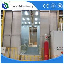 Automatic spray booth in powder coating machine/water curtain spray booth