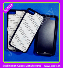 JESOY High Quality Rubber For iphone 5 5c 6 Silicone Sublimation 2D Blank Black Phone Cases Cover