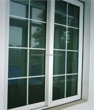 China aluminum sliding window with safety window grill design