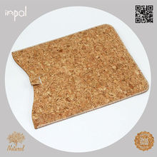 Brand new original soft feeling natural fabric cork shell case in cork style for ipad mini by case manufacturing company