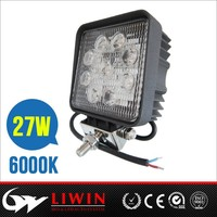 Liwin brand top quality 4x4 led motoycle work light 4.3inc 4x4 led work driving light 27w led truck lights for motor SUV car kit