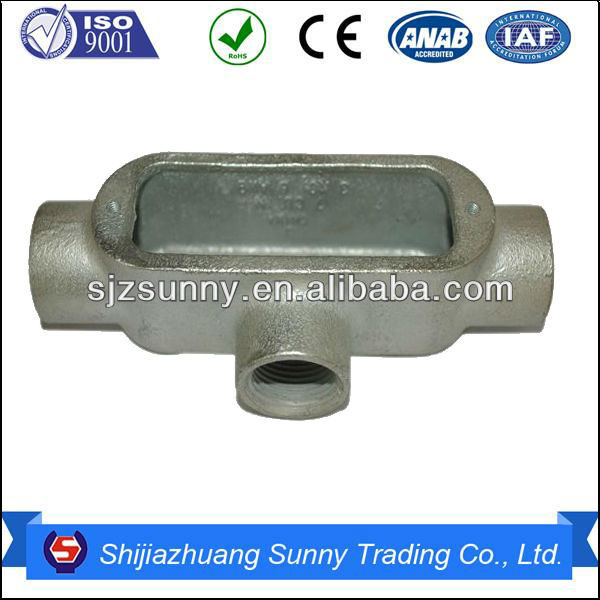 Water Proof Electrical Malleable Iron Rigid Conduit Box T Type