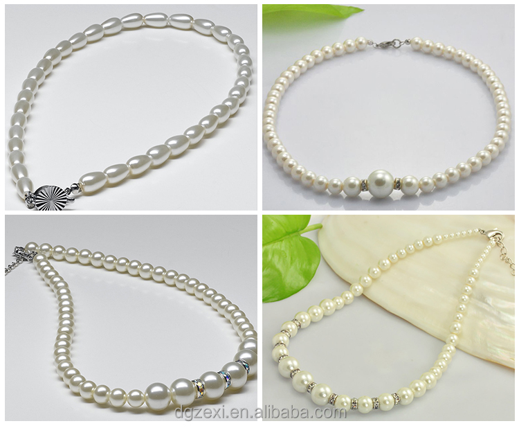 China Wholesale mixed strands faux pearl bead necklace