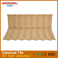 New design Classic seven wave earthquake resistance stone coated roof tile