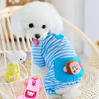 Cute stripe pet clothing animal face dog costume pet clothes dog