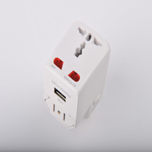 All in One Universal International World Travel AC Power Charger Adapter with AU US UK EU Plug and 2 USB Port Adaptor