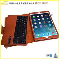 High Quality Brown Color And Fashion Universal Leather Tablet Keyboard Case For 7/8 /9 /9.7 /10 Inch Tablet PC