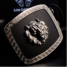 cheap and cool lion head belt buckle for garment