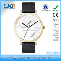 Marble dial!! High Quality Italy Crocodile Pattern Leather Custom Corniche Brand Watch For Men