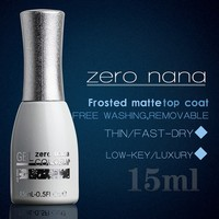 wholesale price 15ml/pc ZERO nana matte nail polish professional nail uv lamp gel top coat for natural nails with OEM