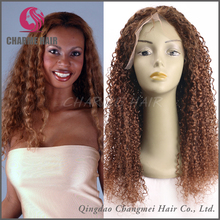 Top Quality Full Head Human Hair Brazilian Hair Kinky Curly Full Lace Wigs For Black Women