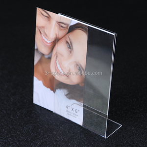 A4 Size Vertical L Shape Acrylic Desk Sign Holder Paper Promotion Card Table Label Holder Stand