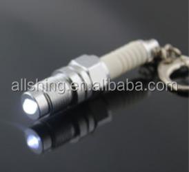 Wholesale LED Spark Plug keychain/ 3D Real spinning Turbo Keychain/Chrome colorful spining Turbo key chains