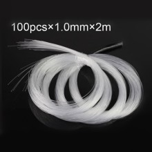 1.0mm PMMA plastic fiber optics cable 100pcs X 2Meters for led light engine