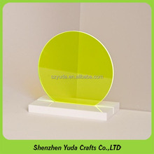 Fluorescent Colored Acrylic Panel Laser Cutting Round plexiglass Circle Plastic Discs