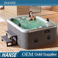 HS-591Y romantic freestanding rectangle balboa hot tub with sex masage