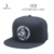 High Quality Black Grey Custom Embroidered 100% wool snapback hat