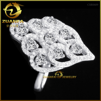 top selling products in alibaba wholesale cz pave jewelry in silver