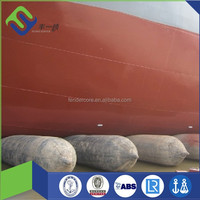 6 layers FLORESCENCE Marine airbags export to Batam shipyards for launching and landing