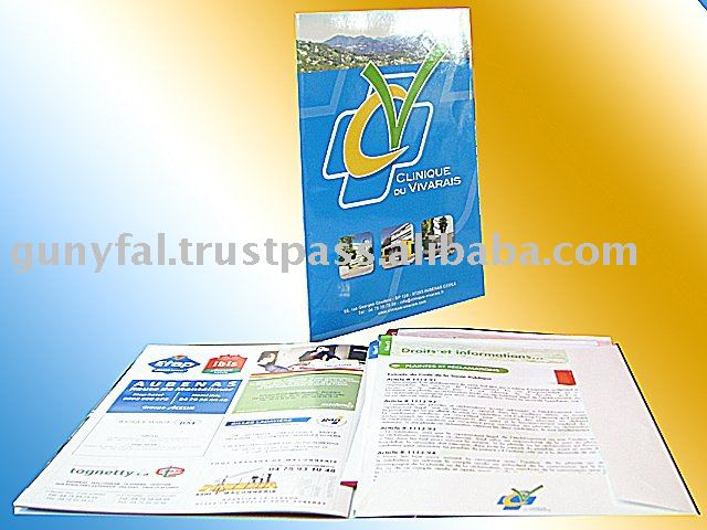 CMYK Offset Printing Coated Paper Brochure