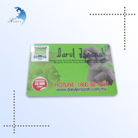 Eco-friendly silk/offset printing plastic hard PVC working credit card