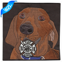 Large motorcycle patch sew on cheap fire department dog embroidery patches for clothing design