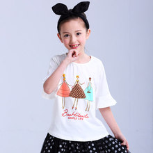Made in China Low price of custom printing blank girls kids cheap polo wholesale t shirt