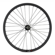 OEM Tubuless & Hookless carbon 26er wheels mtb 32mm deep 40mm wide carbon down hill mountain bike wheelset WDH26-40