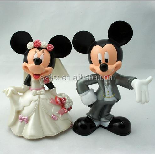 Custom plastic cartoon couple dolls action figure ,custom design cartoon couple dolls plastic action figures manufacturer