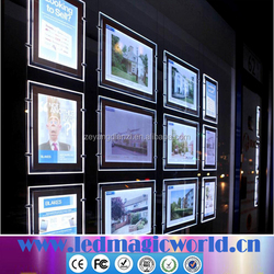 led area light real estate A3 A4 advertising acrylic window display led light sheet led light poster