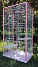 QQ Pet Factory Wholesale Metal Large Animal Cages For Sale & In And Out Door Cat Show Cage