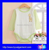 Eco-friendly cotton custom baby romper baby clothes made in China