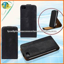 For Apple iphone 4G 4S Good Quality Black Cell Phone PU Leather Case