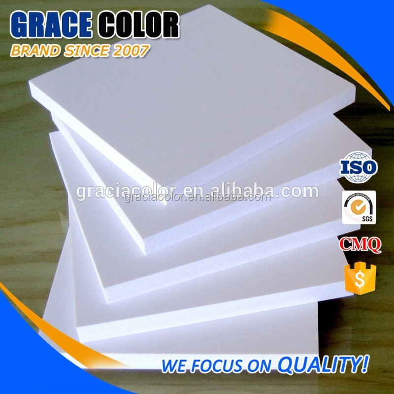 Pvc plastic foam forex sheet 3mm 5mm closed cell board for sign board