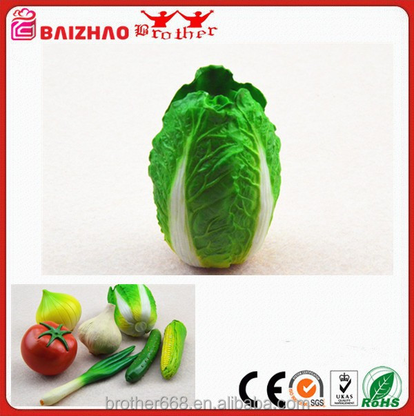 Life-like Artificial Chinese Cabbage Decoration Plastic Vegetables