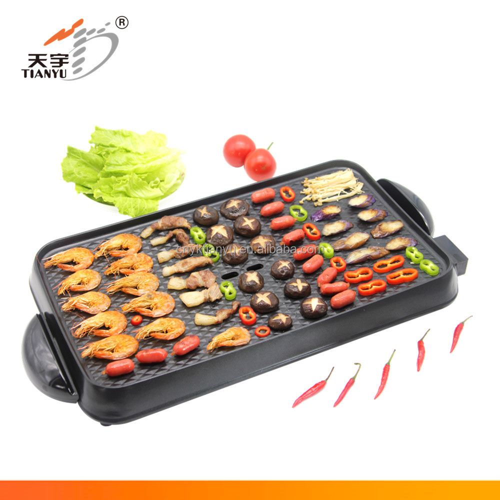 korean style electric bbq grill toaster with lava rock