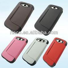 Leather Case Cover for Samsung Galaxy S3 S III 3 i9300 inner standing