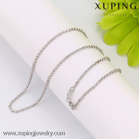 C204274--42594 xuping fashion rhodium color beads necklace