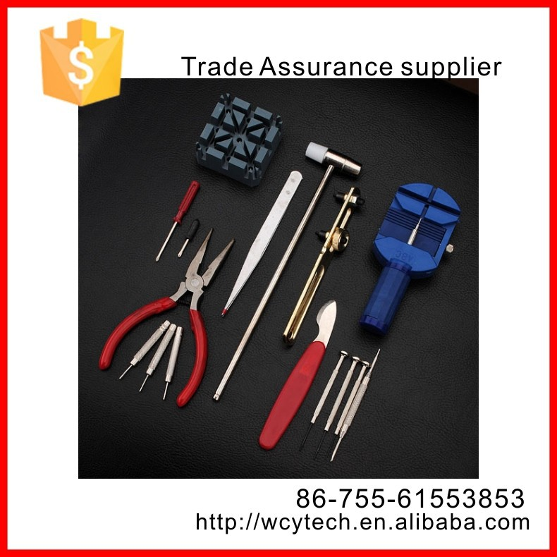 High quality 16pcs watchmaker professional wrist watch repair tool kit