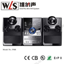 China Supplier WLS home theater amplifier with dvd boombox PM8 support bluetooth FM USB SD card function