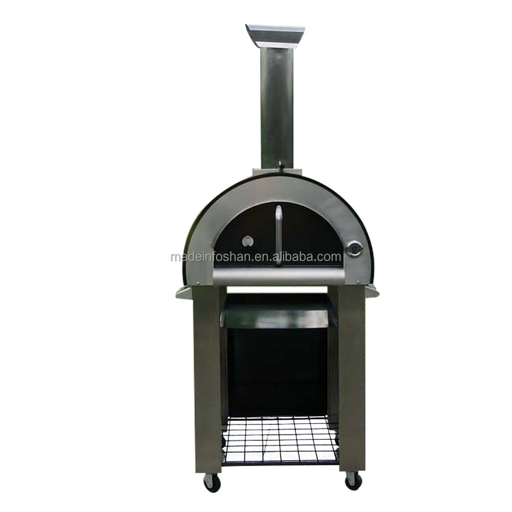 "Outdoor 18"" Wood Fired Bread/Pizza Oven with Stainless Steel Material"