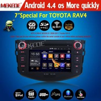 New arrive New style 100% pure Android 4.4 system CAR DVD/cassette player for Toyota RAV4 2006-2012 with full functions