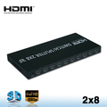 V1.4 HDMI Switch/Splitter 2x8,2 in 8 out support 3D 4K HD switch