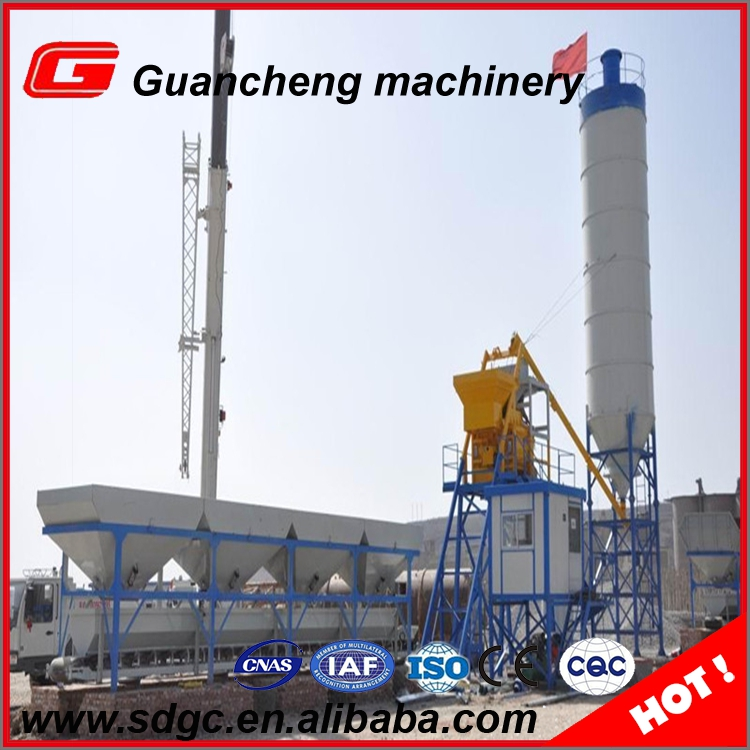 HZS40 cost of cement concrete batching mixing plant price