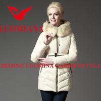 2014 Hot sale latest high quality shiny fashion winter woman faux fur coat white