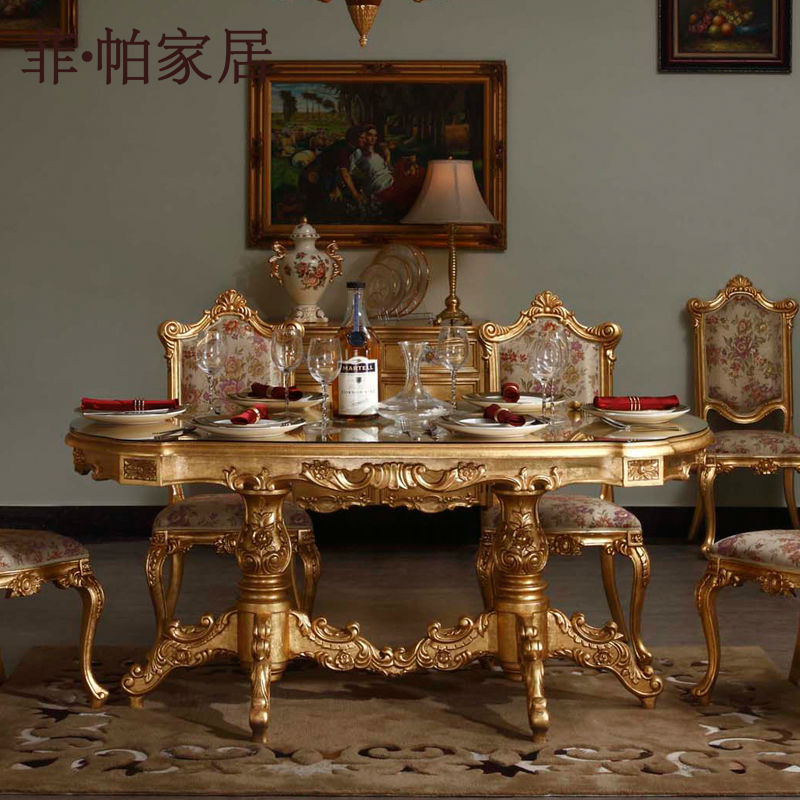 classic italian furniture hand carved solid wood dining room set